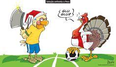 Charge do Dum (Zona do Agrião) sobre o confronto entre Brasil e Peru (15/11/2016) #Charge #Dum #Futebol #Brasil #Peru #SeleçãoBrasileira #HojeEmDia