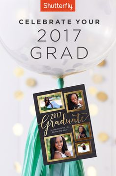 Use code GRAD17 for 40% off grad stationery. Ends May 10.   Shutterfly.com