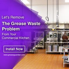It's crucial for your commercial to resolve the challenges associated with the maintenance of in your commercial kitchen. Install the grease trap into your plumbing unit and enable your kitchen serve you better. Kitchen Installation, Commercial Kitchen, Grease, Plumbing, How To Remove, Challenges, The Unit, Commercial Cooking, Greece