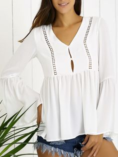 loose white boho top
