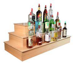 Wood Liquor Shelf Display - Liquor Shelves / Bottle Displays - Equipment - Bar Equipment