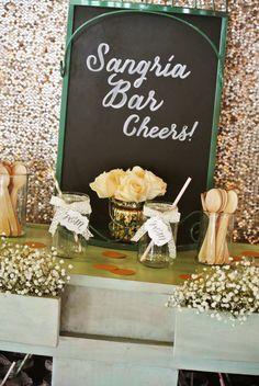 """Pizarra """"Sangría Bar ~ Cheers!"""""""