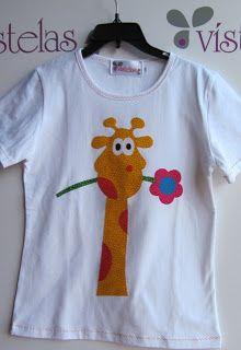Vístelas. Camiseta Infantil Jirafa