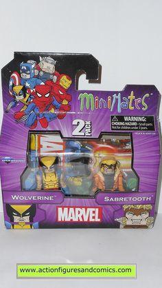 minimates WOLVERINE SABRETOOTH x-men marvel universe action figures moc mip mib