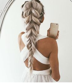 Voluminous reverse braid