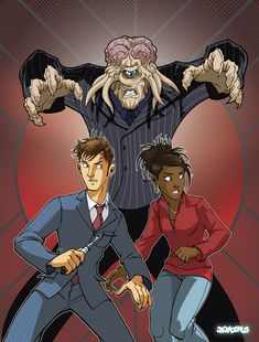 FINALLY got to draw the Doctor yesterday, after clearing a massive workload. Tons of fun to do, hope ya all like it. J x Er, Look Behind You. Doctor Who Art, 10th Doctor, Martha Jones, Big Finish, John Barrowman, Don't Blink, Torchwood, Time Lords, Coming Home