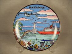 Bahamas Souvenir Wall Plate Plaque Bahama Islands by SnapshotsThroughTime