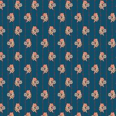 One Yard  1 Yard of Thriving Threads Deep  FLEET & by LlamaFabrics