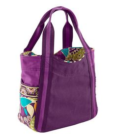 Look at this #zulilyfind! Plum Crazy Small Color Block Tote by Vera Bradley #zulilyfinds