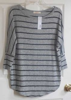 Dear StitchFix stylist, this looks perfect for me. I love grey and stripes. It seems casual but I believe I could dress it up with dress pants and accessories, which I already have in my wardrobe! - T