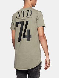 print T-shirt midgreen