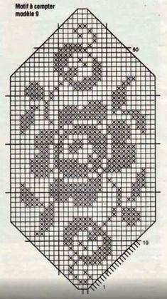 Crochet Diagram, Filet Crochet, Crochet Doilies, Pixel Pattern, Knitting Charts, Crochet Designs, Plastic Canvas, Embroidery Patterns, Diy And Crafts
