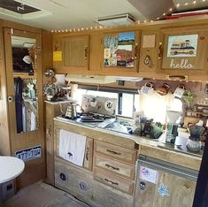 This is the cutest kitchen for a camper van build! Makes me wanna try out the van life. Great interview about what it's like to live on the road and the hardest parts about living in a van. #vanlife