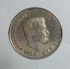 Attualmente nelle aste di #Catawiki: Regno delle Due Sicilie – 10 grana del 1855, Ferdinando II, settimo tipo �...