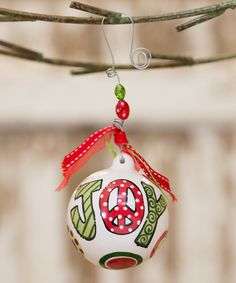 Take a look at this Glory Haus 'Joy' Ball Ornament on zulily today!