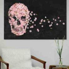 cute girly skull, flowers make it pretty and dreamy