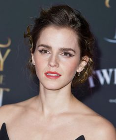 """Emma Watson at the premiere event for """"Beauty and the Beast"""" Red Carpet held at the El Capitan Theatre in Hollywood Los Angeles, California on March 2, 2017. Pinned by @lilyriverside"""