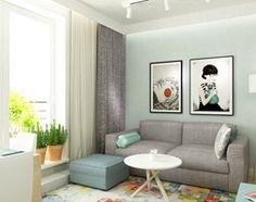 41 m2 pastelowe - Mały salon z jadalnią, styl skandynawski - zdjęcie od Grafika i Projekt architektura wnętrz