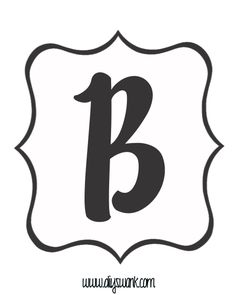 White and Black Letter_B copy