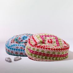 bean bags from Donna Wilson Bean Bag Bed, Bean Bag Chair, Bean Bags, Easy Sewing Projects, Sewing Ideas, Cotton Bag, Kid Beds, Home Textile, Decoration