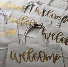 Wedding Hotel Bags, Wedding Guest Bags, Wedding Welcome Bags, Welcome Card, Welcome Letters, Welcome Gifts, Old Fashioned Wedding, Hotel Welcome Bags, Kraft Bag