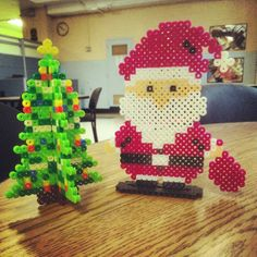 Christmas perler beads by arts_and_graff
