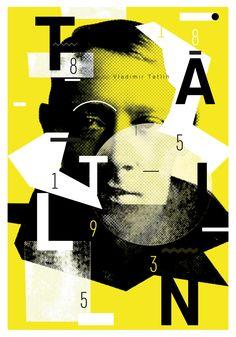"Posters ""130 Tatlin"" on Behance"