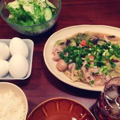 ゆで卵はセルフで殻むいてとそのまま 笑 - 6件のもぐもぐ - 中華丼  ご飯と別 by yuurimaman