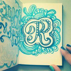 Alphabet doodle R. #alphabet #doodle #lettering #type #picfx - @magicmaia- #webstagram