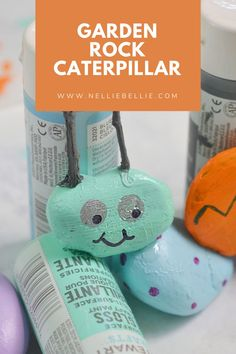 Kids love to pick up rocks. Here is a fun way to use those rocks they are always collecting. Make a cute kids craft Caterpillar for your yard. #Kidscraft #rocks #Craft #Easy Cute Kids Crafts, Painted Rocks Kids, Rock Painting Ideas Easy, Caterpillar, Cooking Timer, Core, Crafty, How To Make, Fun