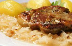 Hlavní jídla – U Miládky v kuchyni Pork, Menu, Cooking Recipes, Chicken, Kale Stir Fry, Menu Board Design, Chef Recipes, Pork Chops