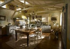 af59c  rustic country kitchen farmhouse Romantic Air Country Style Kitchen Design