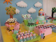 Peppa pig por Criancices. Decoração Festa Infantil.