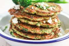 Try a new twist on classic pancakes with this flour-free recipe, with creamy feta, a hint of chilli and Tenderstem® to add a dose of green goodness. Savoury Pancake Recipe, Savory Pancakes, Pancake Day, Best Diets, Food Allergies, Couscous, Tray Bakes, Salmon Burgers, Quinoa