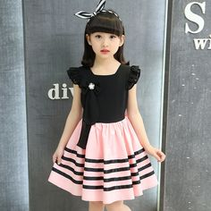 >> Click to Buy << party dress girl Teenager 12 year puff sleeve princess dress for girl baby chiffon clothes dress princess kids dress pink white  #Affiliate