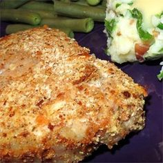 Oven-Fried Pork Chops - Allrecipes.com I will try the Stuffing mix instead of Shake n Bake