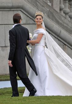 Crown Princess Victoria of Sweden marries Daniel Westling in a lavish ceremony at the Stockholm Cathedral  with royal guests from all over the world.