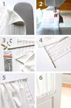 This is a beginner sewing project for you to cut your DIY teeth on. It's easy and fast to make. It takes 2 skills, ironing, and straight stitching. Layered Curtains, Lined Curtains, Diy Curtains, French Door Curtains, French Doors, Drapery Panels, Fabric Panels, Diy Sewing Projects, Sewing Tutorials