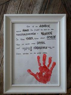 Fingerabdrücke.  Geschenk für Oma.