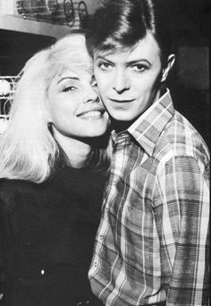 Deborah Harry and David Bowie | I think they both look adorable in this pic! so…