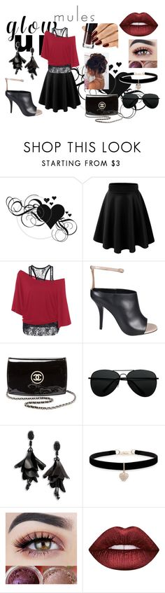 """""""Party Up"""" by ceelsasser ❤ liked on Polyvore featuring Givenchy, Chanel, Oscar de la Renta, Betsey Johnson and Lime Crime"""
