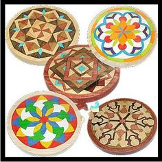 wooden mandala mosaic puzzles  by www.puzzled1.com