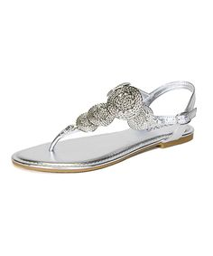 Loving this Bamboo Silver Nadya T-Strap Sandal on #zulily! #zulilyfinds