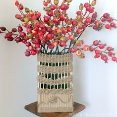 s 17 brilliant ways to reuse your empty cardboard boxes, home decor, repurposing upcycling, Wrap It in Jute Make a Vase