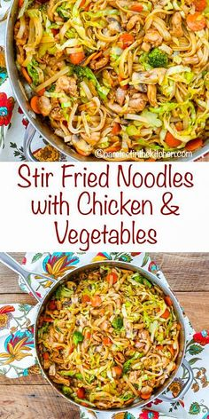 Chicken And Cabbage, Chicken And Vegetables, Cabbage Stir Fry, Chicken Broccoli, Chicken Cabbage Stirfry, Stir Fried Vegetables Recipe, Thai Stir Fry Vegetables, Healthy Recipes, Asian Recipes
