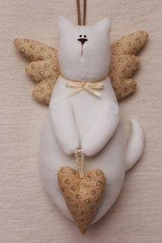 Интерьерные куклы Кузнецовой Евгении: Коты в стиле тильда. Выкройки