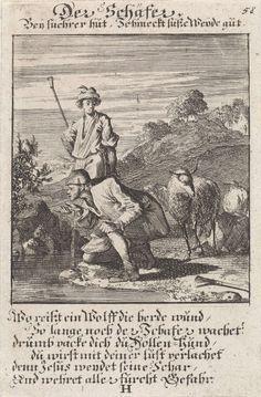 Shepherds, Caspar Luyken, anonymously, 1711