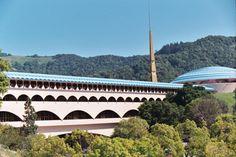 Marin County Civic Center, San Rafael, CA. A Frank Lloyd Wright design. Stunning.