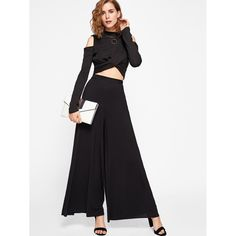 a68235ec8e6 Elasticized Waist Super Wide Leg Pants