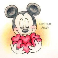 Disney Kunst, Arte Disney, Disney Mickey, Disney Art, Disney Magic, Mickey Mouse And Friends, Minnie Mouse Party, Disney And More, Disney Love